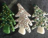 Swarovski Crystal Charlie Brown Tree Pin by Kim Lugar