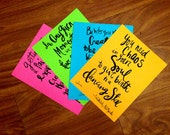 """Inspiration Ink Quote Handlettering 8""""x10"""" Print 4-Set"""