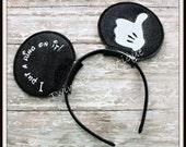 I put a ring on it- CUSTOM Engagement Groom Mouse Ears Headband