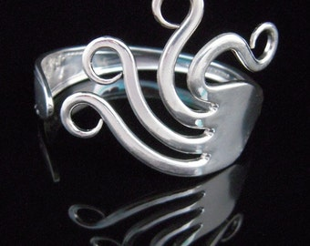 Fork Bracelet - Silverware Jewelry - Original Wavy Design Number Two