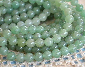 66pcs Green Aventurine Natural Gemstone Beads 6mm 16 Inches Strand