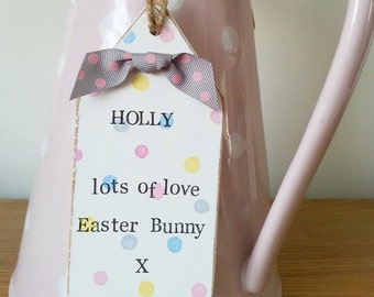 Easter bunny treats tag, Easter egg hunt prize, Personalised Easter gift