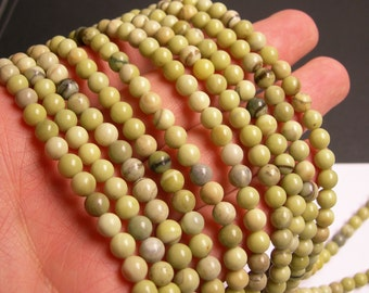 Butter Jade 6mm round beads - full strand - 69 beads per strand - AA quality - RFG25