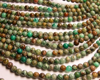 Aqua green Crazy Lace Agate - 6mm round - 1 full strand - 66 beads - A quality - RFG153