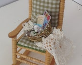 Dolls House Miniatures - Sewing Chair for a Crochet