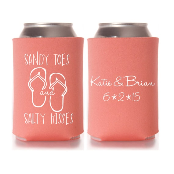 Beach Wedding Favor Ideas: Personalized Sandy Toes And Salty Kisses By