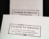 Creativity for Introverts! 1 & 2 Understanding Flow - Self-Care Zine