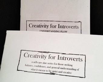 Creativity for Introverts! 1 & 2 Understanding Flow - Self-Care Zine