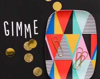 Melamine Platter - Geometric
