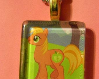 My little pony BIG MACINTOSH Glass Tile Necklace