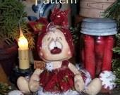 Primitive Patti's Ratties Raggedy Ann Snowman Girl Doll Pattern 623