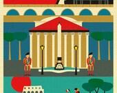 Rome Art Print, Rome Wall Art, Italy Travel Poster, Rome Map Print, Rome Gift, Rome Nursery, Italian Baby, Rome Decor, Rome - style E8-O-ROM