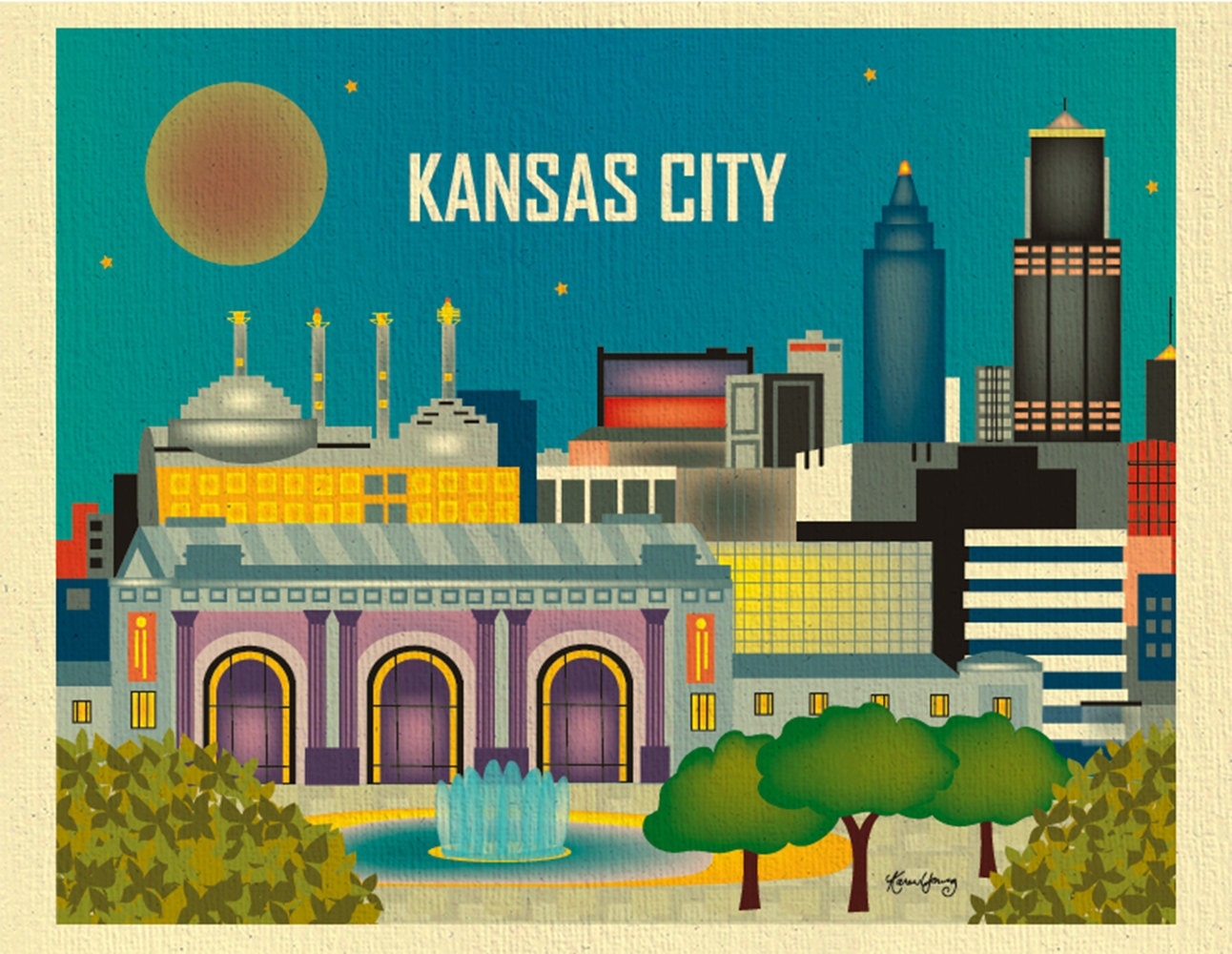 Kansas City Wall Art kansas city skyline art print kansas city wall art kansas