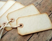 Place Card Tags Merchandise Tag Blank Seating Name Cards Rustic Vintage Style Weddings