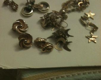 Random clip earring lot