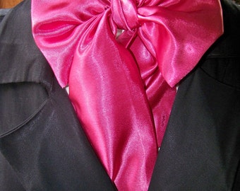 Cravat, In A Hot Pink fabric or Ascot Mens Victorian Tie