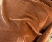 1/2 yard vintage Rusty Brown Cotton VELVET by cheswickcompany