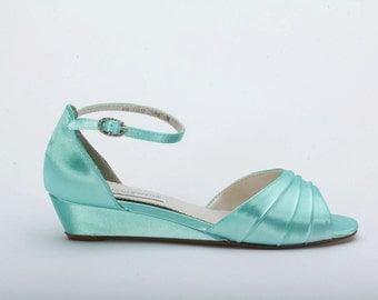 Wedding Wedge Shoes - Wedge - Wedding Shoes - Wedges- Parisxox By Arbie Goodfellow - Choose From Over 200 Color Choices - Dyeable Shoes