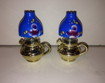 Set of Vintage Lanterns/Oil Lamps Salt and Pepper Shakers