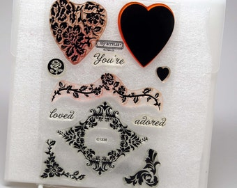 DESTASH You're Adored Acrylic Stamps -- My Acrylix -- Close To My Heart