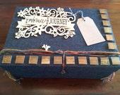Treasure Box, Storage Box, Memory Box, Trinket Box, Recipe Box, Picture Box, Wedding Gift, Mementos, Wedding Cards, Bridesmaids Gifts, Cards