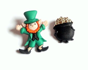 St Patricks Day Earrings Leprechaun Earrings