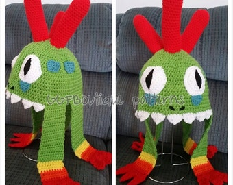 PDF Pattern Wow inspired murloc crochet hat for adults world of warcraft