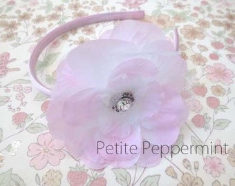 Baby headband, toddler headband, little girl headband, big girl headband, toddler hard headband - Girl Flower Headband