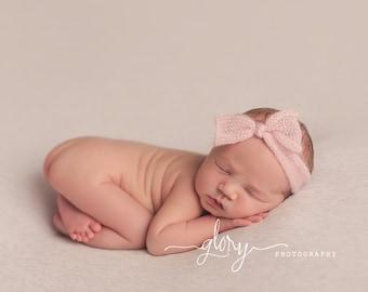 Knotted headband, mohair headband, newborn headband, baby girl, infant girl,  newborn photo prop, photo prop, newborn girl, baby girl hat