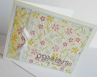 Graduation Greeting Card: Handmade Blank Note Card - Tea Party