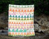 Triangle Meadowlark Large Throw Quilt