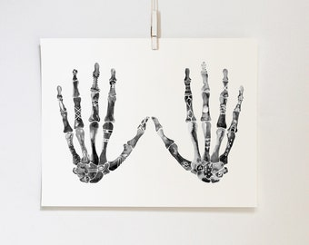 Symbolic Hands #2, 11x14 print