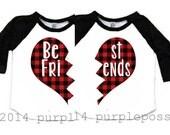 Best Friend Kids Shirts Buffalo Plaid Custom Best Friend Shirts 2 Kids Shirts Raglan Best Friend Raglan Best Friend kids shirt Holiday shirt