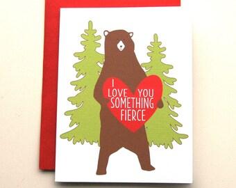 I Love You Bear  - Valentine'a Day Card