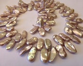 84 Beautiful Natural Light Mauve Pink Keishi Fresh Water Pearls in Size 15 to 18mm long