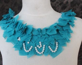 Cute  chiffon  beaded   applique