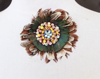 Feather applique   100 %  handmade   1 pieces listing