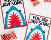 You Are JAWSOME Valentine Printable (INSTANT DOWNLOAD)