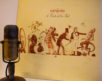 """ON SALE Genesis (with Phil Collins) Vintage Vinyl LP Record 1970s Pop Prog Rock""""A Trick Of The Tail""""(1976 Atco w/""""Dance On A Volcano"""" & """"Squ"""