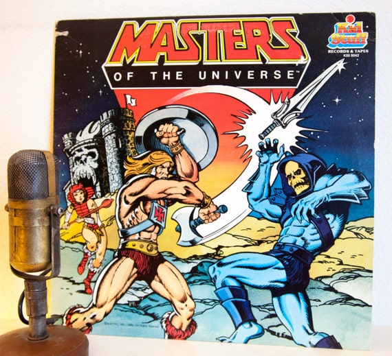 He Man Masters Of The Universe Vinyl Record Album Collectible