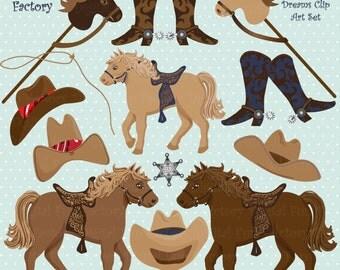 "Cowboy Clip Art ""Cute Cowboy Clipart"" Horse Clip Art Western Clipart Cowboy Hat Clip Art Horses Clipart Wild West Clip Art 1087ff"