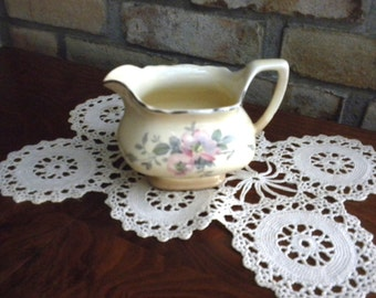 Vintage  W.S. George Lido Canary Tone Floral Creamer