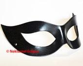 1950s Catwoman Leather Mask Cosplay Halloween Black Widow Superheroine Harley Quinn Batman SDCC Gotham Halloween - Available Any Basic Color