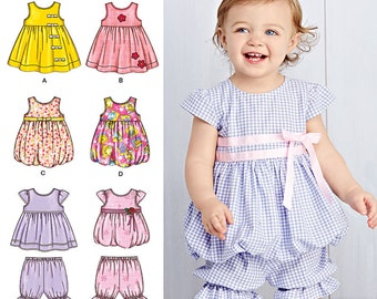 Sewing Pattern-Simplicity 1141 Top, Dress Romper and Bottom Ruffles-Size xxs-L