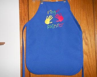Finger Painter Child's  Apron