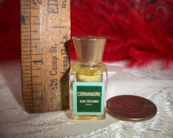 Vintage 60s Coriandre Jean Couturier Paris Miniature Perfume