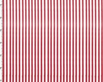 Loralie Designs Red Lazy Stripes - 1 yard
