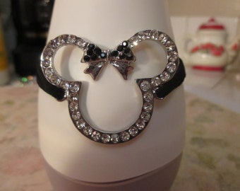 Mouse Ears with Black Bow Bracelet