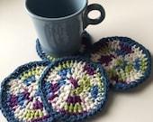 Crochet coasters/ four crochet coasters/ gift
