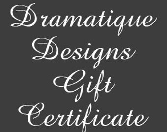 Gift Certificate 75 US Dollars - Delivery Via USPS,Gift, Gift Card, Custom Gift Card, Gift Idea, Certificate